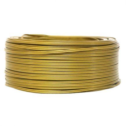 Câble PVC méplat 2 x 0.5mm² L.25m or