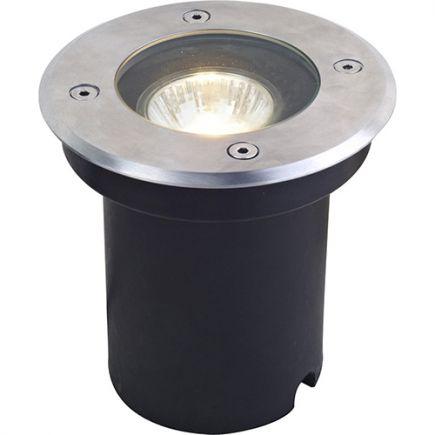 Kastra - buried light Ø120x128 cut hole Ø110 x 126 GU10 35W max. silver