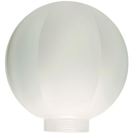 Vetro Globe D100 Filettatura 31,5mm Bianca Striata