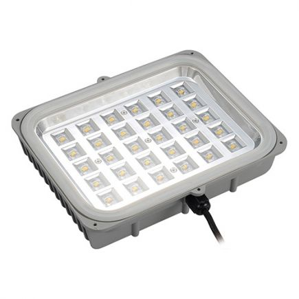 Sponde - Modulo LED 238x209x54 40W 3000K 4286lm 85x135° argento