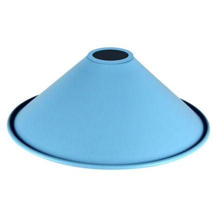 Abat-jour métal conique ø220mm bleu ciel mat