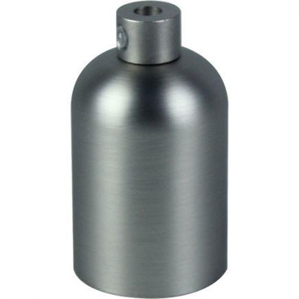 Douille E27 aluminium ø42mm H.62mm gris clair