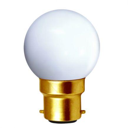 Sferiche colorate LED 1W B22 4000K 80Lm Bianco
