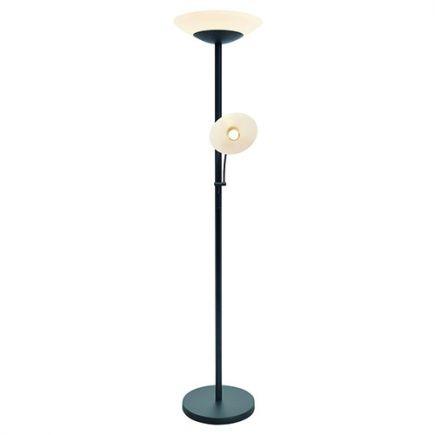 Carpo - Lampada da terra LED con lampada di lettura Ø400x1810 42+4.5W 3000K 3600+400lm 120° nero Dim