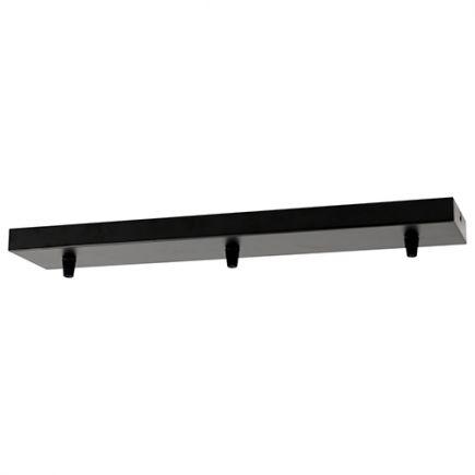 Square ceiling_3 holes_470x95x25mm_black