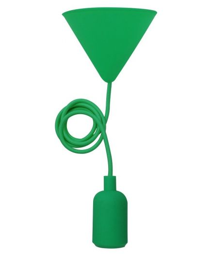 FS EcoWatts - Suspension E27 silicone câb. text. L.120cm vert
