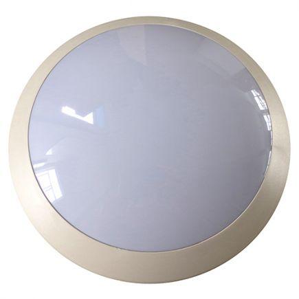 Lenie - EcoWatts - Plafoniera a IP 66 Ø300x100 E27 18W max bianco