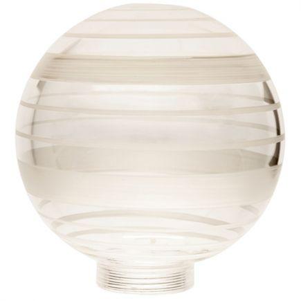 Vetro Globe D100 Filettatura 31,5mm Bianco