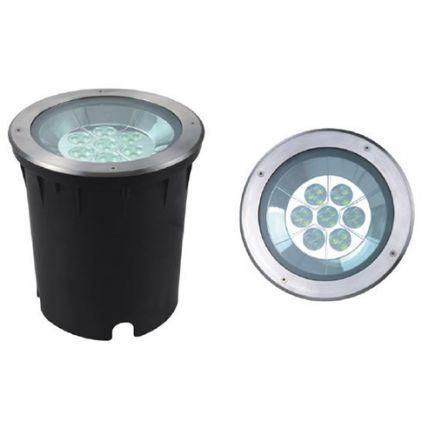 Kastra - LED buried light IP67 Ø250 x 267 cut hole Ø245mm 35W 4000K 2000lm 33° silver