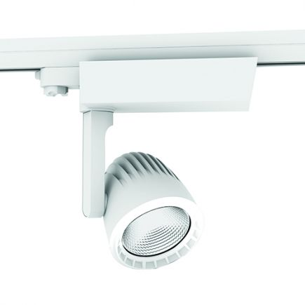 Sassa - Faretti su binario LED Ø110x237 40W 3000K 3400lm 36° bianco
