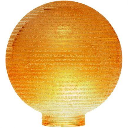 Vetro Globe D100 Filettatura 31,5mm Striata ambra