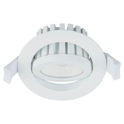 Cavell - Faretto a LED da incasso orientabile IP 65 Ø86 x 75 inc.Ø75 10W 4000K 900lm 45° bianco
