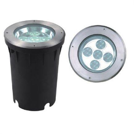 Kastra - LED buried light IP67 Ø193 x 248 cut hole Ø190mm 26W 4000K 1750lm 10° silver