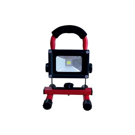 Lassen - Lampada del proiettore portable ricaricabile IP 65 240x115x167 10W 2700K 600lm 120° rosso