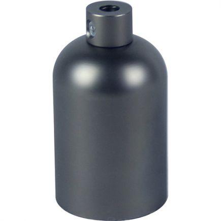 Douille E27 aluminium ø42mm H.62mm gris foncé