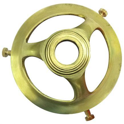 Griffe 57mm H.29mm tr.Ø11mm laiton poli