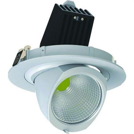 Simba - Faretto a LED regolabile Ø205x147 inc.Ø190 45W 4000K 3700lm 36° bianco