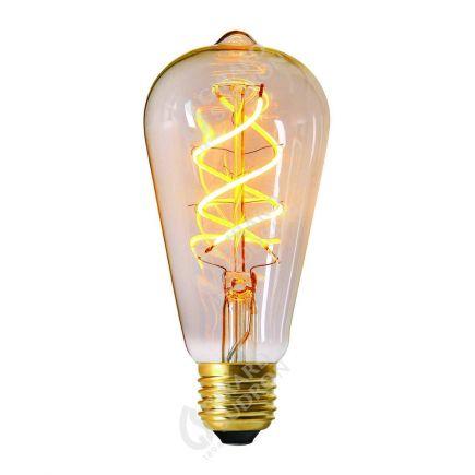 Edison Filament LED TWISTED 4W E27 2200K 240lm  Dim. Cl.