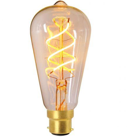 Edison Filament LED TWISTED 4W B22 2200K 240lm Dim. Cl.