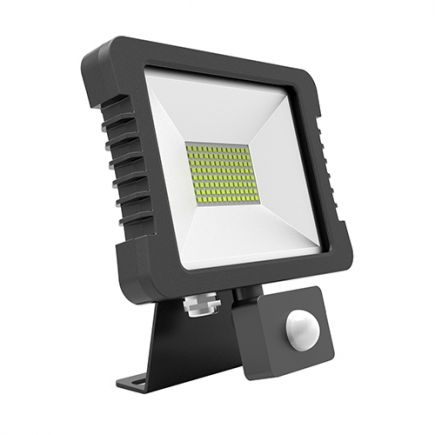 Yonna - Lampada del proiettore LED IP 65 200x228.5x34.5 30W 4000K 2280lm 110° nero PIR