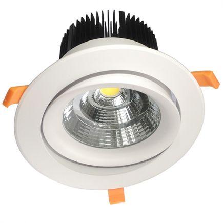 Cavell - Faretto a LED da incasso orientabile Ø195x129 inc.Ø158 50W 4000K 4500lm 45° bianco