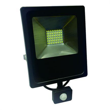 Isonoe - EcoWatts -Lampada del proiettore LED IP 65 235x64x285 50W 3000K 4000lm 120° nero