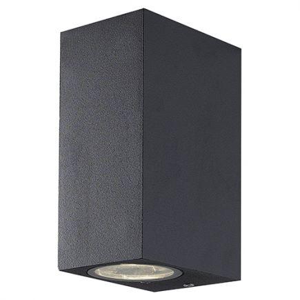 Carrol - Lampada da parete Sali-scendi 93x68x150 max 2x11W grigio scuro
