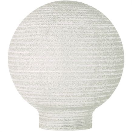 Vetro Globe D80 Filettatura 31,5mm Bianca Striata
