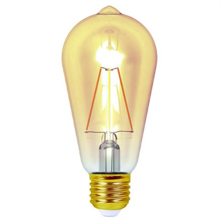 FS ECOWATTS - LAMPE LED EDISON E27 4W AMBRÉE BLANC CHAUD BLISTER 3125