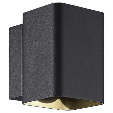 Iwan - LED wall lamp up & down 104x129x132 10W 3000K 400lm 80° dark grey