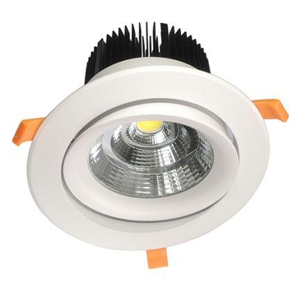 Cavell - Faretto a LED da incasso orientabile Ø195x129 inc.Ø158 50W 3000K 4250lm 45° bianco