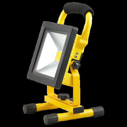 Isonoe - EcoWatts - Lampada del proiettore portable ricaricabile IP 65 298x160x184 20W 4000K 1000lm 120° giallo