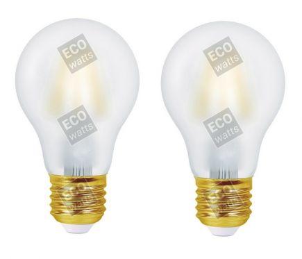 FS ECOWATTS - LOT DE 2 AMPOULES FILAMENT LED - STANDARD A60 8W E27 270