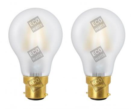 FS ECOWATTS - LOT DE 2 AMPOULES FILAMENT LED - STANDARD A60 8W B22 400
