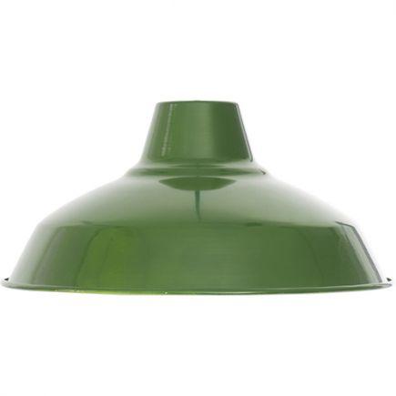 Abat-jour métal industriel ø270mm vert sauge satiné