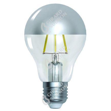 """Standard A60 Filament LED """"Silver Cap"""" 6W E27 2700K 750Lm Dim."""