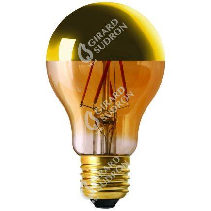 """Standard A60 Filamento LED """"Calotta oro"""" 6W E27 2700K 750Lm Dim."""