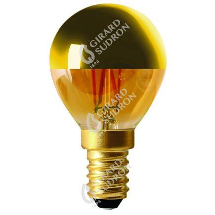 """Sferica G45 Filamento LED """"Calotta oro"""" 4W E14 2700K 350Lm Dim."""