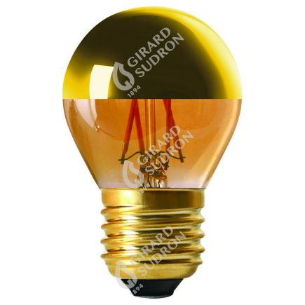 """Sferica G45 Filamento LED """"Calotta oro"""" 4W E27 2700K 350Lm Dim."""