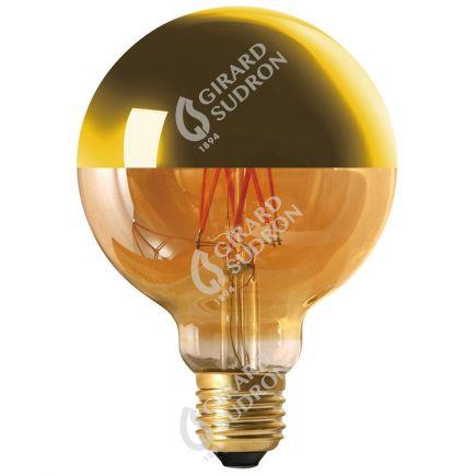 """Globe D95 Filamento LED """"Calotta oro"""" 8W E27 2700K 950Lm Dim."""