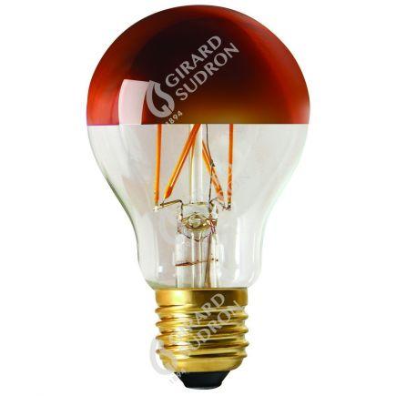 "Standard A60 Filamento LED ""Calotta bronzo"" 6W E27 2700K 750Lm Dim."