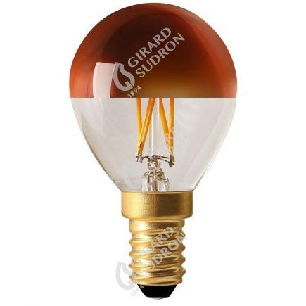"Sferica G45 Filamento LED ""Calotta bronzo"" 4W E14 2700K 350Lm Dim."