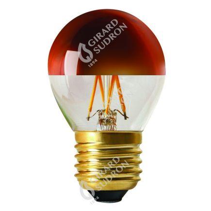 "Sferica G45 Filamento LED ""Calotta bronzo"" 4W E27 2700K 350Lm Dim."