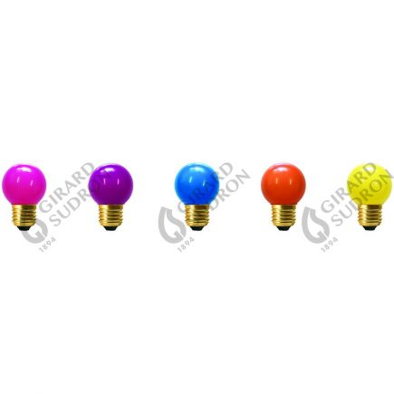 5 Spherical LED 1W E27 Pop kit