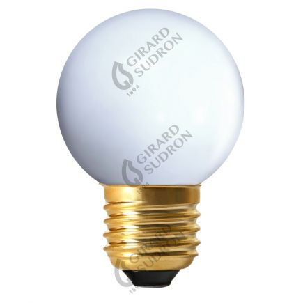 Sferiche colorate LED 1W E27 4000K 80Lm Bianco