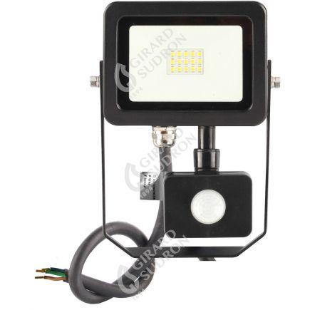 Yonna II - Projecteur LED 10W 3000K 1000lm 110° IP44 noir PIR