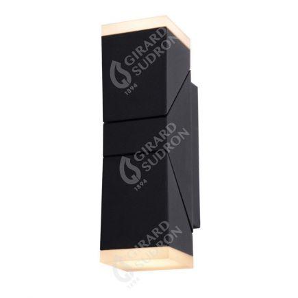 Elypte - Eclairage résidentiel 12,5W 3000K 700lm 65x91x220mm CLI IP54 carré Anthracite