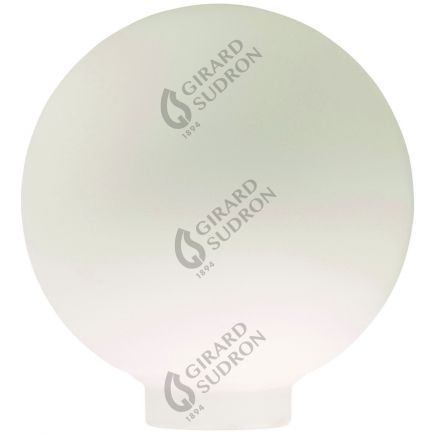 Vetro Globe D100 Filettatura 31,5mm Bianco latte