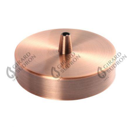 Rosace acier ø 100 mm cuivre + serre-câble ø 6mm