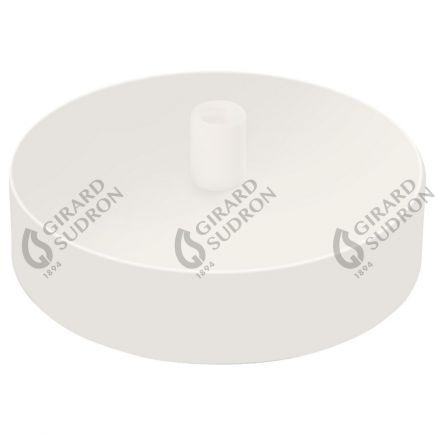 Rosace acier ø 100 mm blanc + serre-câble ø 6mm
